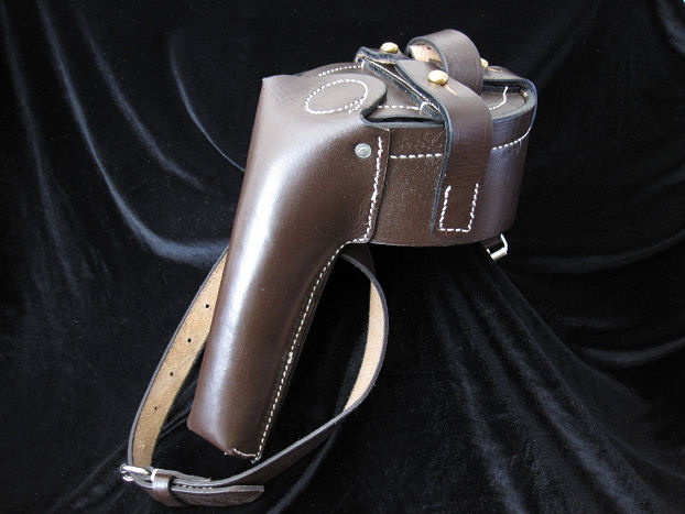 Luger Artillery Leather Snail Drum Carrier.Ref# Re2